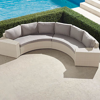 Pasadena II 4-pc. Sofa Set in Ivory Finish