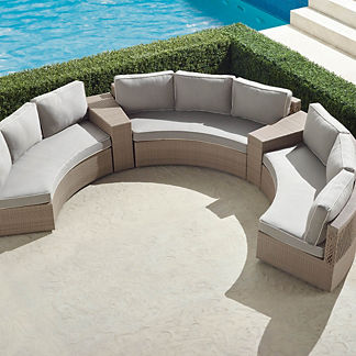 Pasadena II 5-piece Sofa Set in Dove Finish
