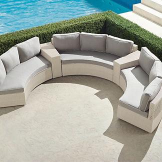 Pasadena II 5-pc. Sofa Set in Ivory Finish