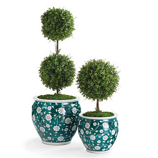 Ancient Emerald Ceramic Planters
