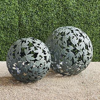 Verdigris Leaf Sphere
