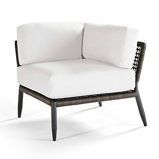 Saratoga Corner Chair with Cushions, Special Order