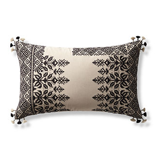 Lenora Embroidered Lumbar Decorative Pillow Cover
