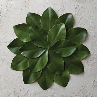 Magnolia Leaf Placemats, Set of Four