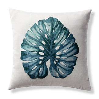 Isla Palm Indoor/Outdoor Pillow by Elaine Smith