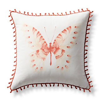 Flutter Bay Handpainted Indoor/Outdoor Pillow