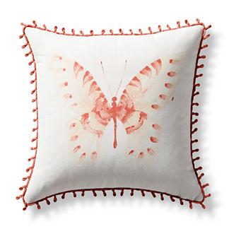 Flutter Bay Handpainted Indoor/Outdoor Pillow