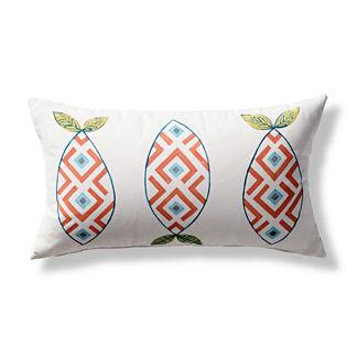 Corrie Sound Handpainted Lumbar Indoor/Outdoor Pillow