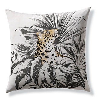 Karima Leopard Indoor/Outdoor Pillow by Elaine Smith