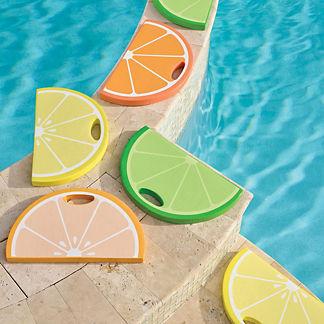 Shaped Poolside Seats