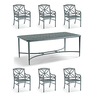 Tourelle 7-pc. Dining Set in Gray Olive Finish
