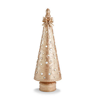 LED Jeweled Champagne Gold 4' Christmas Tree