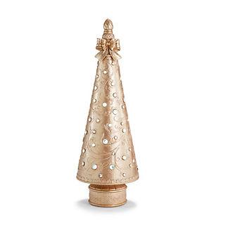 LED Jeweled Champagne Gold 4' Christmas Tree