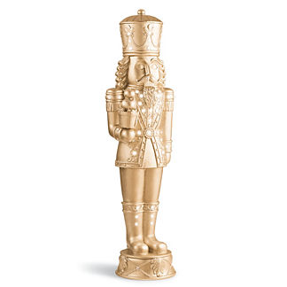 LED Jeweled Champagne Gold 6' Nutcracker