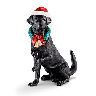 LED Motion-activated Holiday Labrador