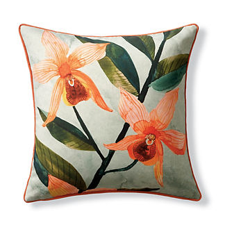 New York Botanical Garden Tiger Lily Indoor/Outdoor Pillow