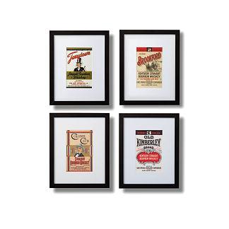 Bourbon Label Giclee Print, Set of 4