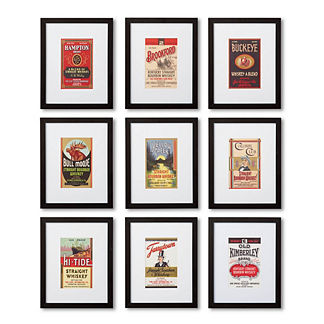 Bourbon Label Giclee Print, Set of 9