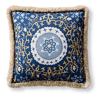 Suzani Medallion Indoor/Outdoor Pillow