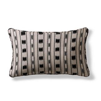 Ikat Stripe Lumbar Indoor/Outdoor Pillow