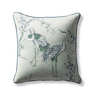 Teuri Crane Indoor/Outdoor Pillow