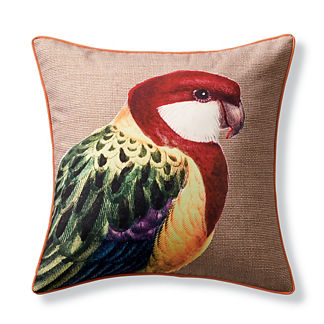 New York Botanical Garden Parakeet Indoor/Outdoor Pillow