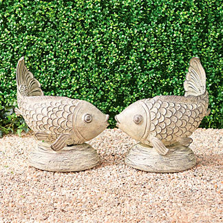 Kissing Fish Sculptures
