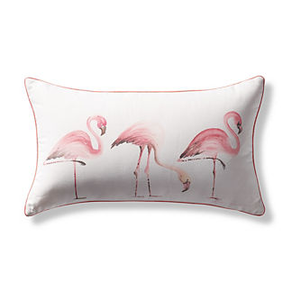Flamingo Lumbar Indoor/Outdoor Pillow
