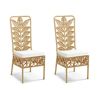 Lotus Dining Chair Replacement Cushions, Set of Two
