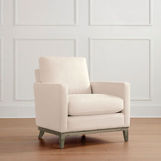 Putnam Lounge Chair in Heathered Gray Finish, Special Order