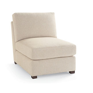 Berkeley Track-arm Modular Armless Chair, Special Order