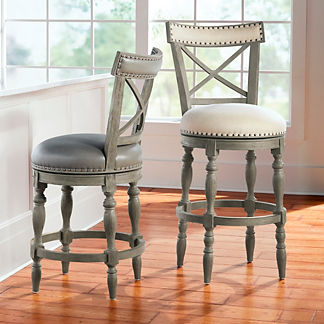 Westcott X-back Swivel Bar & Counter Stool