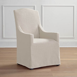 Turin Slipcovered Dining Arm Chair