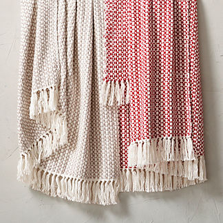 Checkered Fringe Throw
