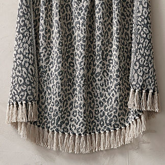Leopard Fringe Throw