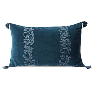 Kingsley Embroidered Lumbar Pillow Cover