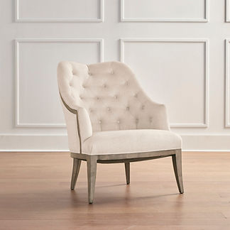Garrett Accent Chair in Stone Gray Finish, Special Order