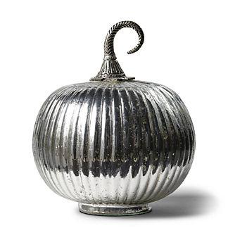 Antique Silver-finish Pumpkin