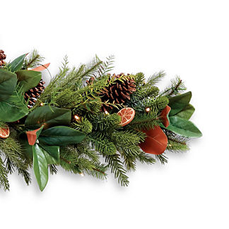 Magnolia Leaf, Pine and Orange Garland