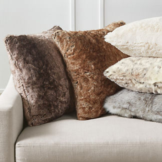 Luxury Faux Fur Decorative Pillow Cover