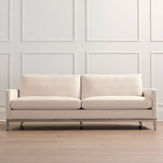 Putnam Sofa in Heathered Gray Finish, Special Order
