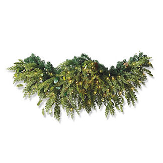 Majestic Holiday Outdoor Cordless 6 ft. Mantel/Door Swag