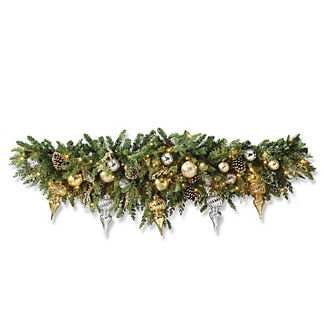 Gold Rush Outdoor Cordless 6 ft. Mantel Swag