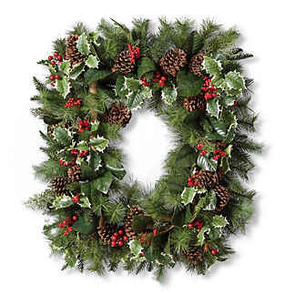Holiday Holly and Berry Wreath
