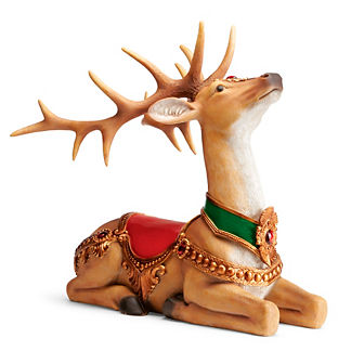Sitting Reindeer Sculpture