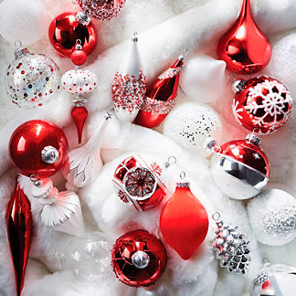 Snowy Christmas 40-piece Ornament Collection