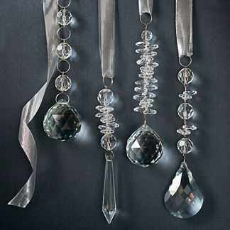 Crystal Drop 12-piece Ornament Set