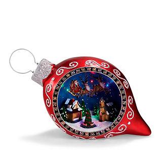 LED Santa Scene Ornament