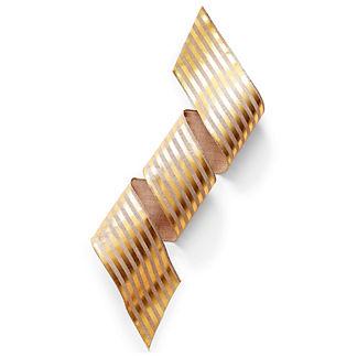 Gold Stripe Metallic Linen Ribbon