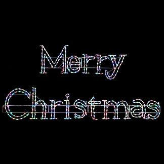 LED Multifunction Merry Christmas Sign